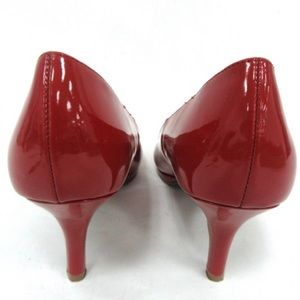 LIKE NEW - Red Patent Leather Round Toe Pumps
